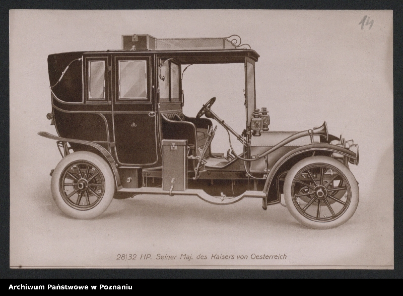 """Obraz 3 z kolekcji """"Automobile - prospekty reklamowe z początku XX wieku"""""""