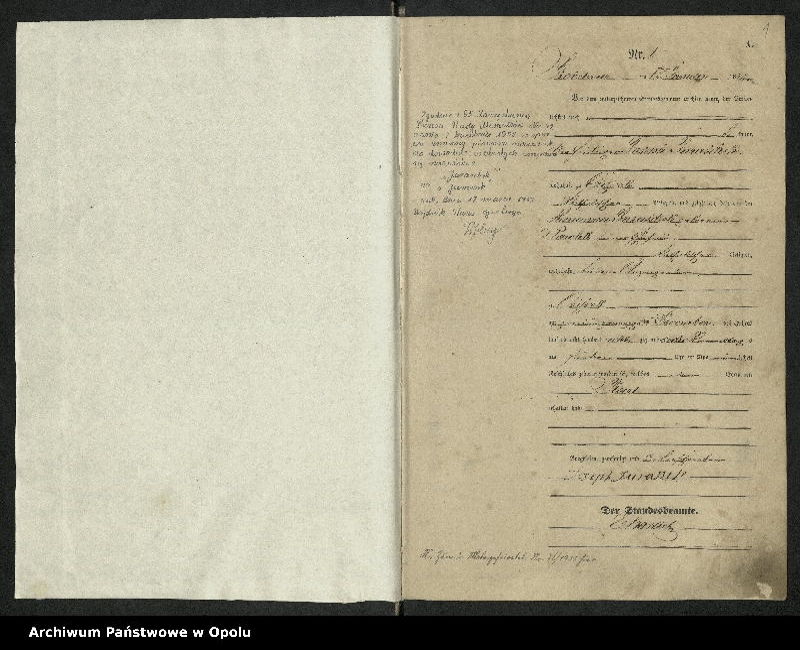 """Obraz z jednostki """"Urząd Stanu Cywilnego Kobylice Księga urodzeń rok 1887-88"""""""