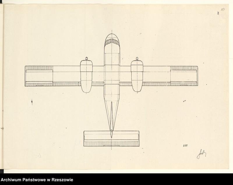 """Obraz 13 z jednostki """"Ogólny projekt ,wstępny """"JAMEL"""" - lekki samolot wielozadaniowy ."""""""