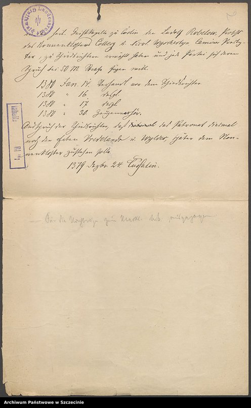 "Obraz z jednostki ""Eggert Manteuffel zu Parpart [Paprotno] contra Jürgen Koeller zu Goerke [Górki (Pomorskie)]in po debiti, vol. I."""