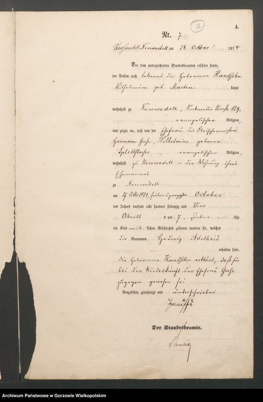 "Obraz 9 z jednostki ""Geburts Register"""