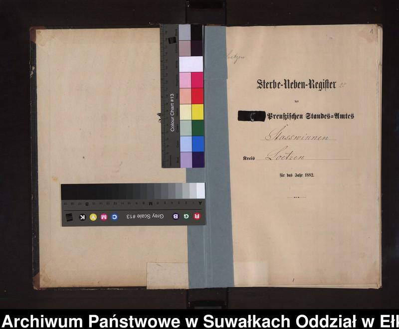 """image.from.unit """"Sterbe-Neben-Register des Preussischen Standes-Amtes Stasswinnen Kreis Loetzen"""""""