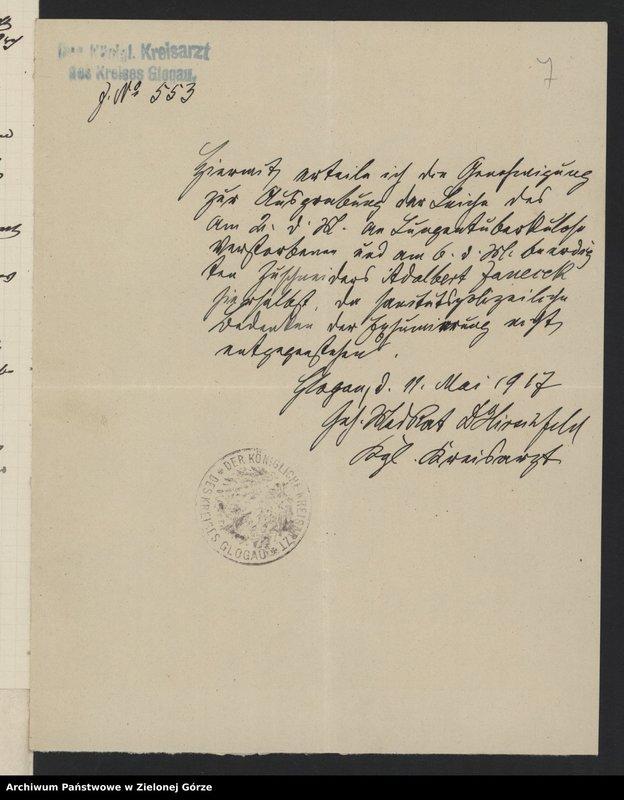 """Obraz 9 z jednostki """"St. Barbara - Friedhof [Cmentarz św. Barbary w Głogowie]"""""""