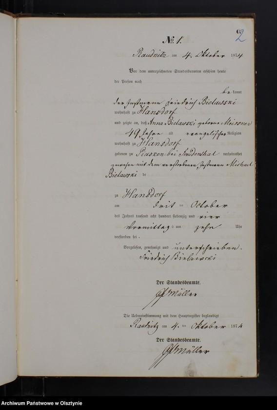 "Obraz z jednostki ""Sterbe-Neben-Register Nr 1 - 24"""