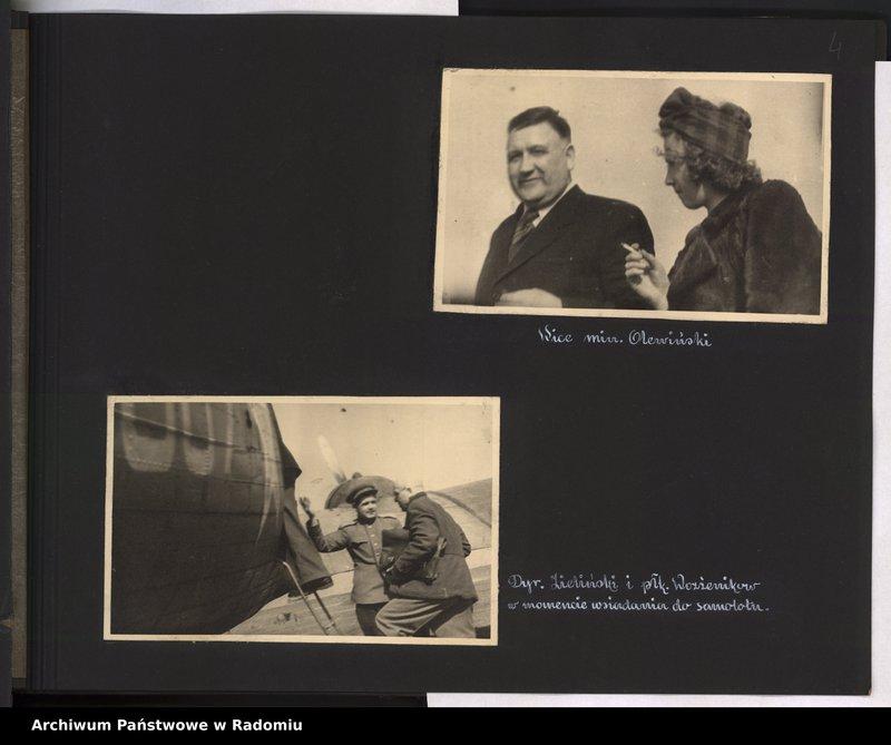 """Obraz 5 z jednostki """"[Album fotograficzny dokumentujący reaktywowanie krajowych połączeń lotniczych przez Polskie Linie Lotnicze """"Lot""""]"""""""