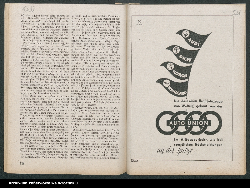 """Obraz 3 z kolekcji """"Reklamy znanych marek w roczniku """"Unsere Saar"""" z 1935 roku"""""""