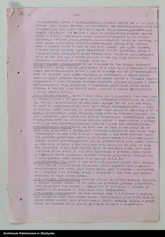 """image.from.unit """"Protokoły zebrań wyborczych /1951/, posiedzeń plenarnych, narad aktywu partyjnego, plany pracy, sprawozdania /1949-1954/ Komitetu Gminnego PZPR"""""""