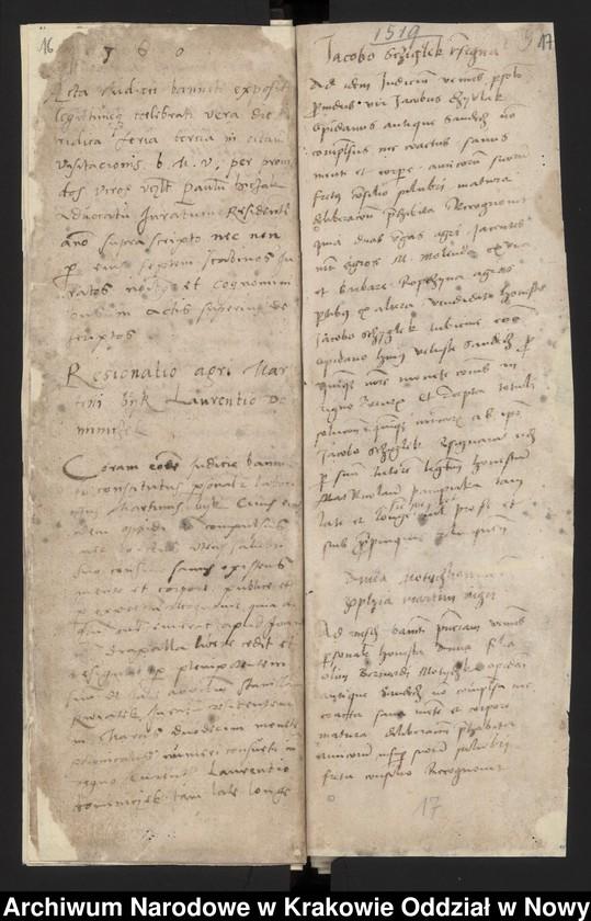 """Obraz 4 z kolekcji """"Fragment księgi wójtowsko - ławniczej miasta Starego Sącza z lat 1480-1563"""""""