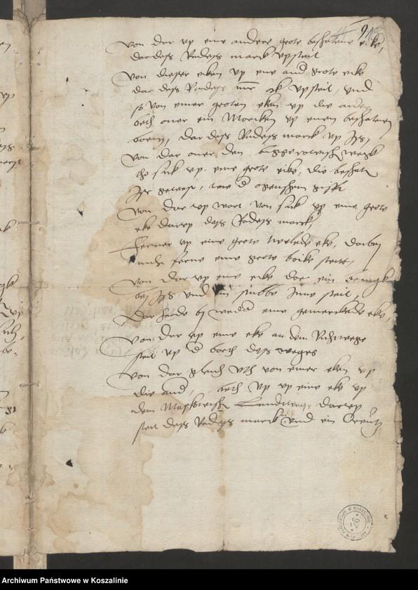"""Obraz 14 z kolekcji """"Granice miasta Koszalina. Tom I: 1558-1689 [odpis dokumentu z 1337 roku]"""""""