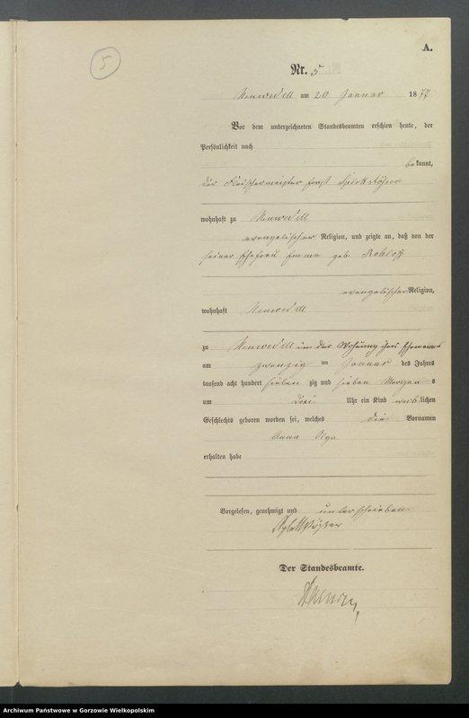 "Obraz 7 z jednostki ""Geburts Register"""