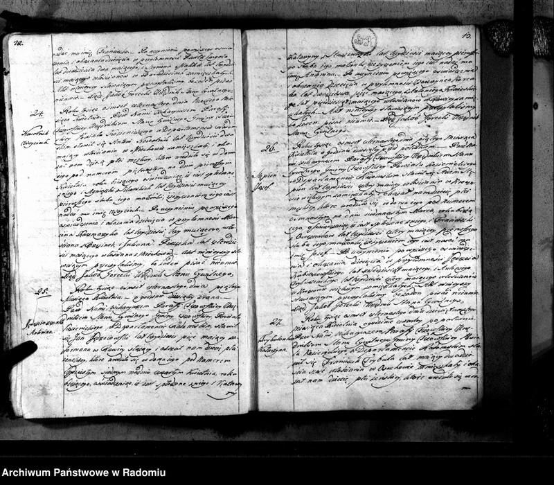 """Obraz 9 z jednostki """"Tczów 1814 [Duplikat akt urodzonych, zaślubionych i zmarłych]"""""""