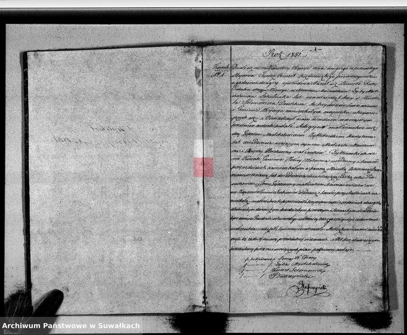 """image.from.unit """"Duplikat Zaślubionych, Urodzonych i Zmarłych Okręgu Wiejsieje Wyznania Mojżeszowego Rok 1851"""""""