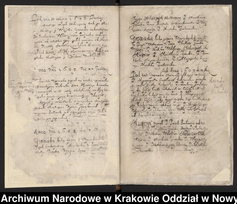 """Obraz 12 z kolekcji """"Fragment księgi cechu szewskiego w Starym Sączu z lat 1603-1709"""""""