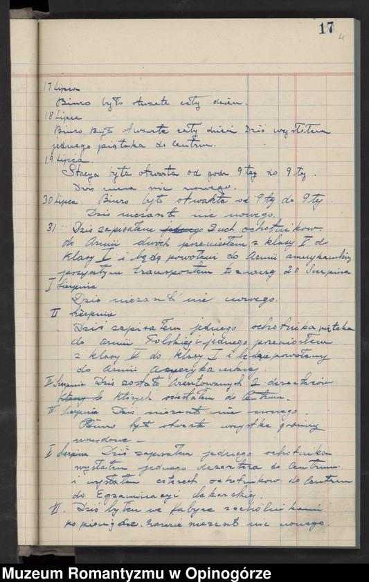"""Obraz 7 z jednostki """"Księga raportów dziennych Stacji nr 3 w City Stall. (Rekrutacja do Armii Hallera)."""""""