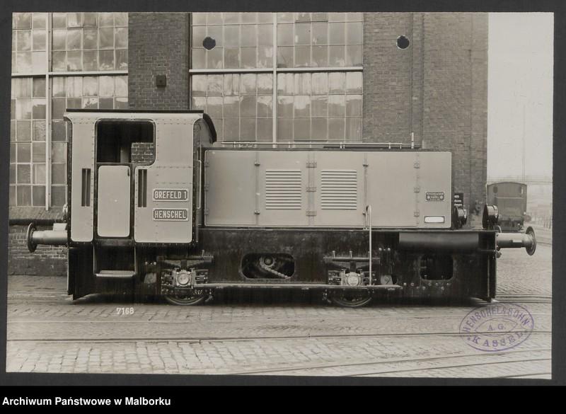 """Obraz z jednostki """"Lokomotivbedarf [Przetarg na zakup lokomotywy elektrycznej Typ D El 110 Dokumentacja firmy Henschel und Sohn AG w Kassel]"""""""