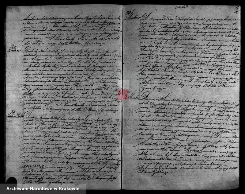 """Obraz z zespołu """"Akta stanu cywilnego Parafii Rzymskokatolickiej w Kalinie Wielkiej"""""""