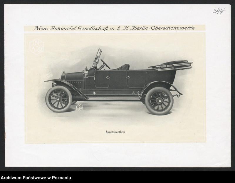 """Obraz 13 z kolekcji """"Automobile - prospekty reklamowe z początku XX wieku"""""""
