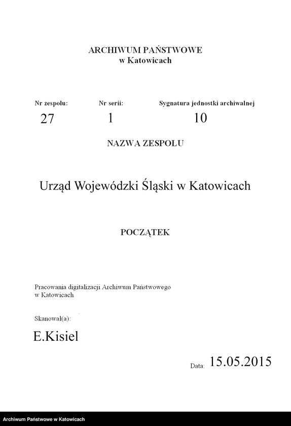 """Obraz 3 z jednostki """"[Zarządzenia, okólniki, polecenia służbowe Urzędu Wojewódzkiego Śląskiego nie numerowane]"""""""