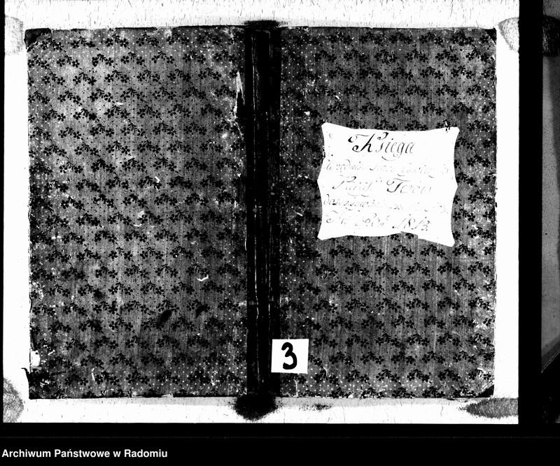 """Obraz 2 z jednostki """"Księga urzędnika stanu cywilnego parafii Tczów do zapisania wszelkich aktów na rok 1813"""""""