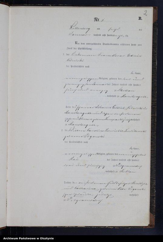 """Obraz z jednostki """"Heiraths-Neben-Register Nr 1 - 51"""""""