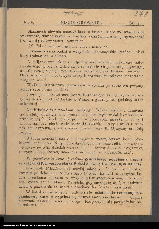 """Obraz 9 z kolekcji """"85 rocznica śmierci Józefa Piłsudskiego"""""""