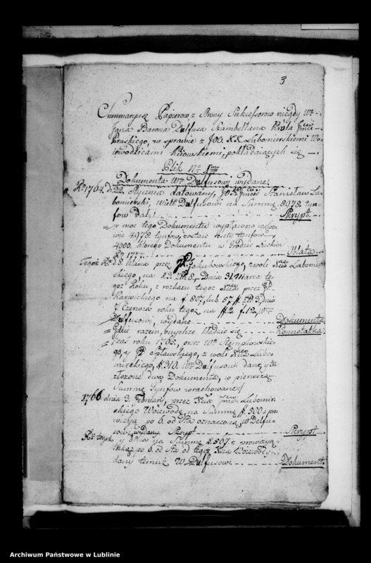 """image.from.unit """"Sumariusz papierów ze strony sukcesorów niegdy ... Barona Dulfusa szambelana króla pruskiego w sprawie z ... Lubomirskimi wojewodzicami kijowskimi"""""""