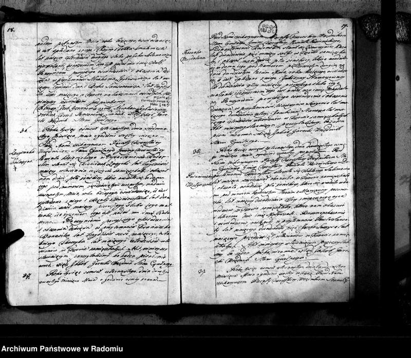 """Obraz 12 z jednostki """"Tczów 1814 [Duplikat akt urodzonych, zaślubionych i zmarłych]"""""""