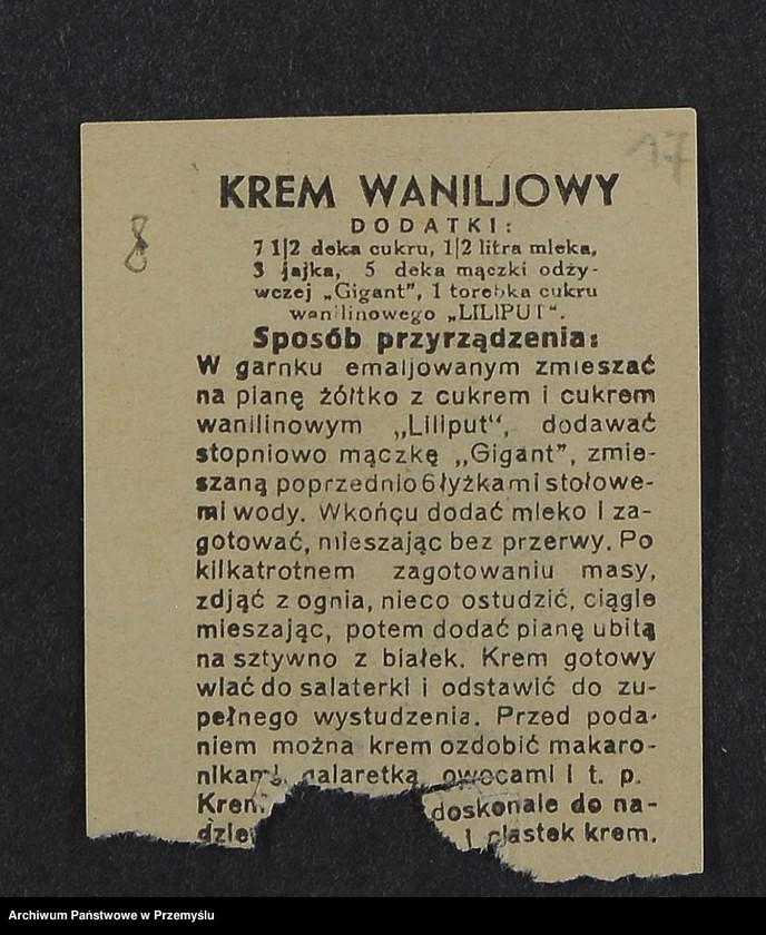 """Obraz 5 z kolekcji """"Przepisy kulinarne z kalendarza z 1935 roku"""""""