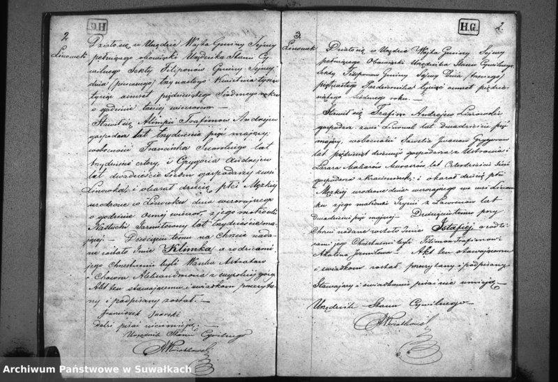 """image.from.unit """"Duplikat Akt Urodzonych, zmarłych i zaślubionych Filiponów w Gminie Sejwy Roku 1857"""""""