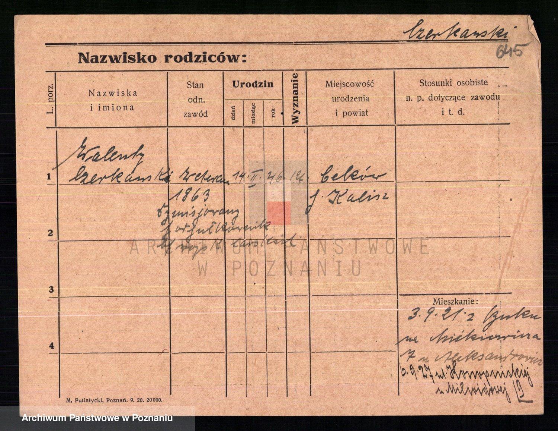 Skan z jednostki: Czeczewski - Czernielewski