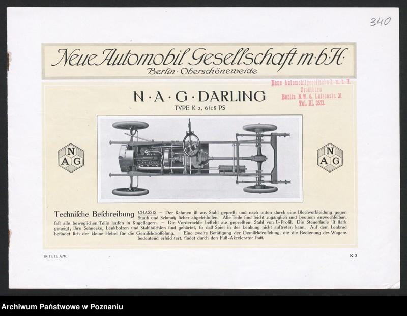 """Obraz 12 z kolekcji """"Automobile - prospekty reklamowe z początku XX wieku"""""""