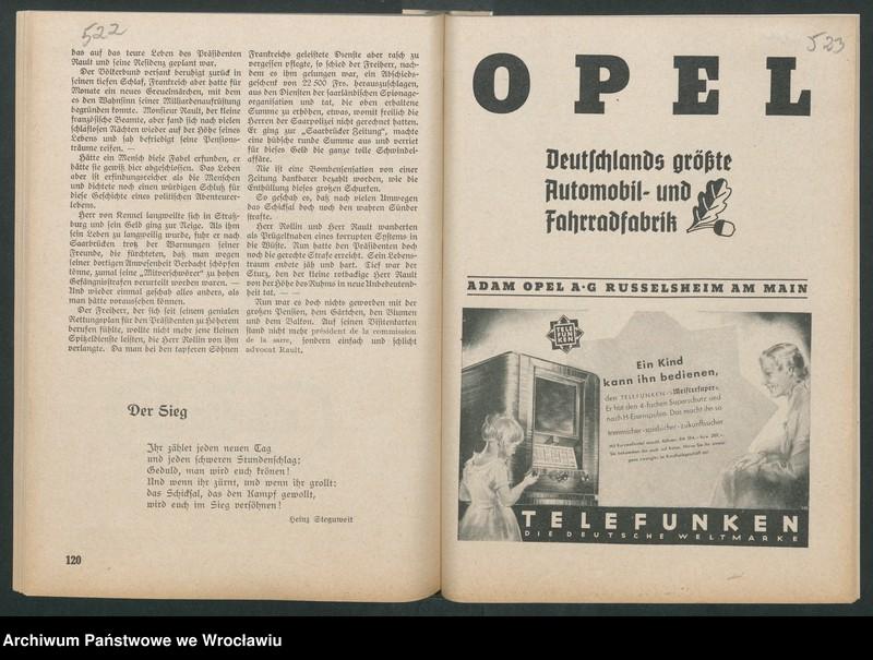 """Obraz 4 z kolekcji """"Reklamy znanych marek w roczniku """"Unsere Saar"""" z 1935 roku"""""""