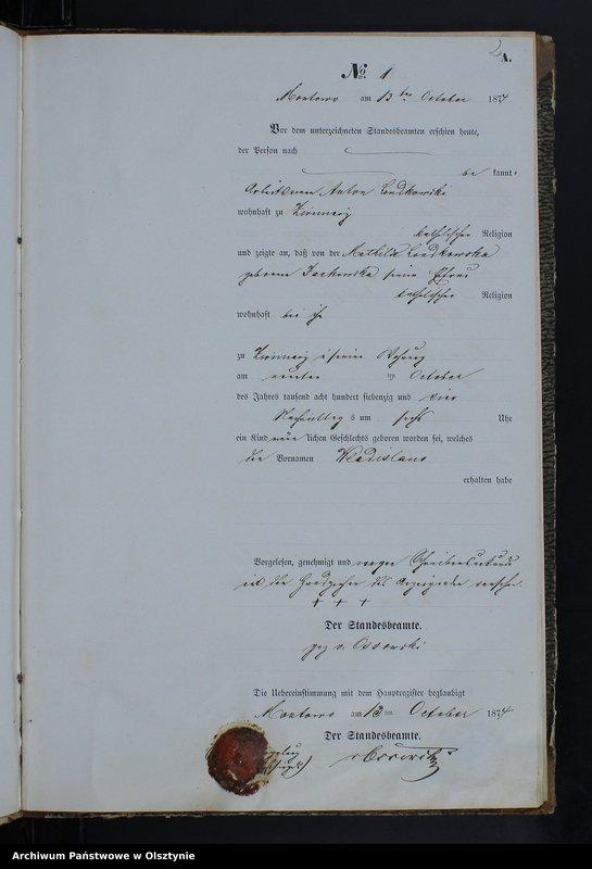 """Obraz z jednostki """"Geburts-Neben-Register Nr 1 - 23"""""""
