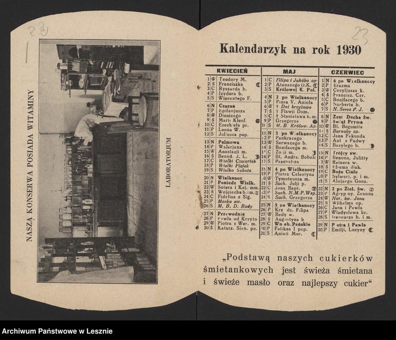 """Obraz 16 z jednostki """"[Druki reklamowe i notatki prasowe dotyczące fabryki w Pudliszkach oraz fotografia z wizyty w Pudliszkach w 1929 r. prezydenta Polski Ignacego Mościckiego]"""""""
