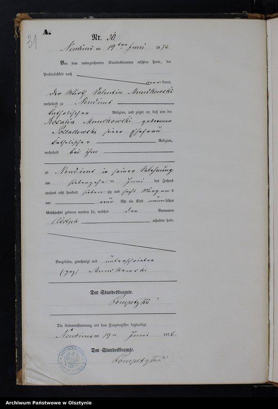 """image.from.team """"Urząd Stanu Cywilnego w Węgoju pow. biskupiecki (dawny pow. reszelski)"""""""
