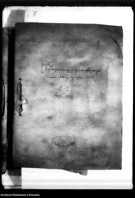 """Obraz z jednostki """"Korespondencja w sprawie miejscowych Niemców, którzy zginęli w 1939 roku L - Z"""""""