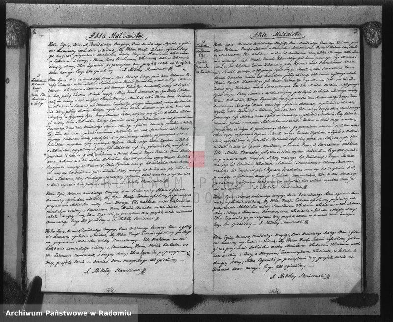 """Obraz z jednostki """"Akta Cywilne Małżeństw, Urodzeń i Zejścia w Parafii Zakrzów R-u 1822"""""""