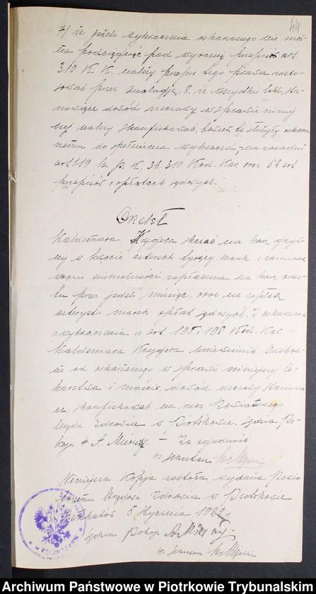 """Obraz 2 z kolekcji """"Nielegalne praktyki medyczne i znachorstwo sto lat temu. Przykład z powiatu piotrkowskiego"""""""