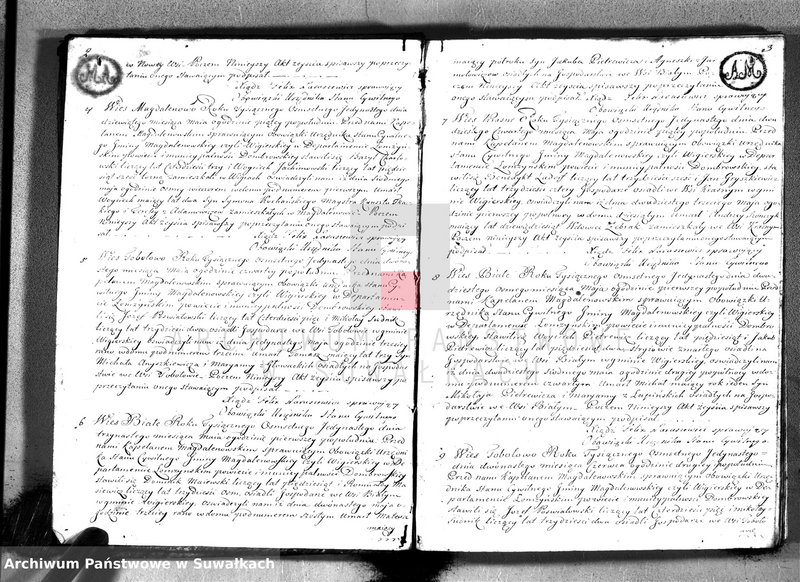 """Obraz z jednostki """"Akta zejścia gminy wigierskiey od 1-go maja 1811 do dnia ostatniego kwietnia 1812 roku"""""""