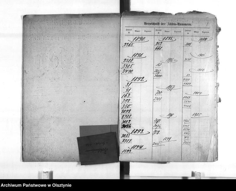 "Obraz z jednostki ""Regierungs-Büreau-Diätar Bohlmann [Johann] den 1. August 1896 Regierungs-Sekretär den 10. März 1897 Regierungs-Hauptkassen Buchhalter"""