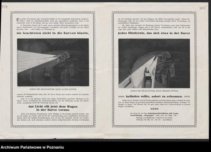 """Obraz 11 z kolekcji """"Automobile - prospekty reklamowe z początku XX wieku"""""""