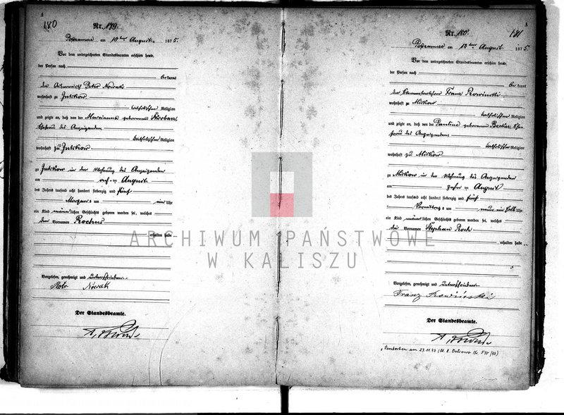"""Obraz 2 z kolekcji """"Akty metrykalne znanych osób w zasobie Archiwum Państwowego w Kaliszu"""""""