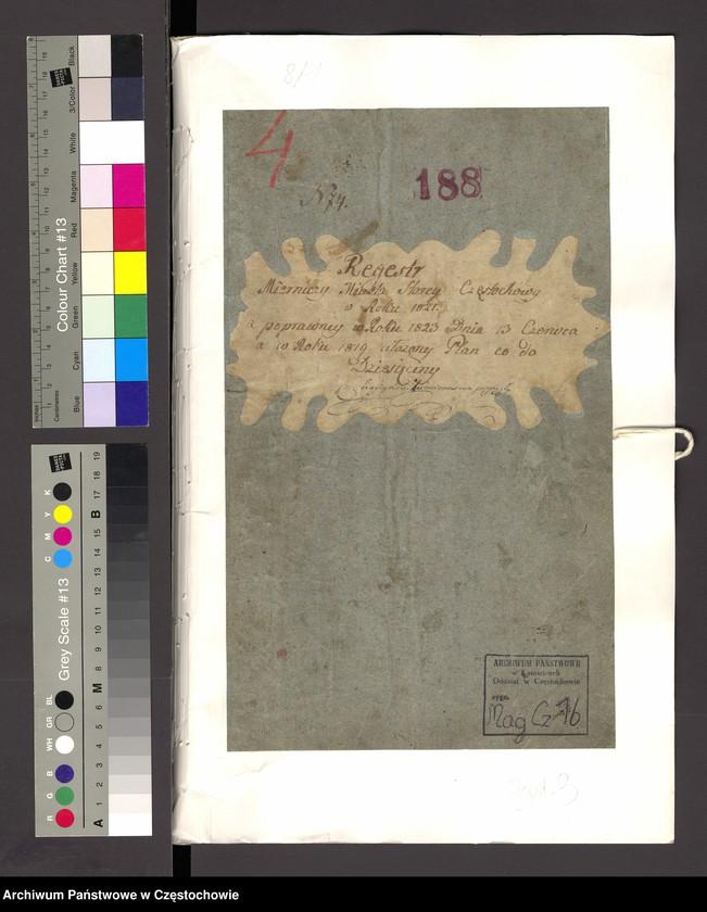 """Obraz 14 z kolekcji """"Najcenniejsze i najciekawsze dokumenty w zasobie Archiwum Państwowego w Częstochowie"""""""