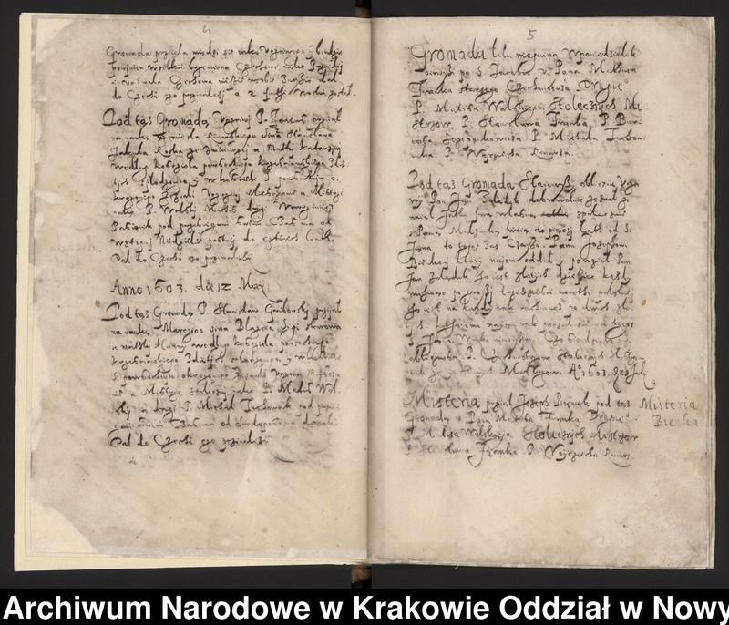 """Obraz 13 z kolekcji """"Fragment księgi cechu szewskiego w Starym Sączu z lat 1603-1709"""""""