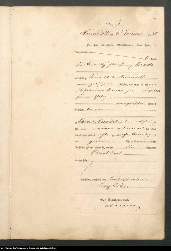 "Obraz 5 z jednostki ""Geburts Register"""