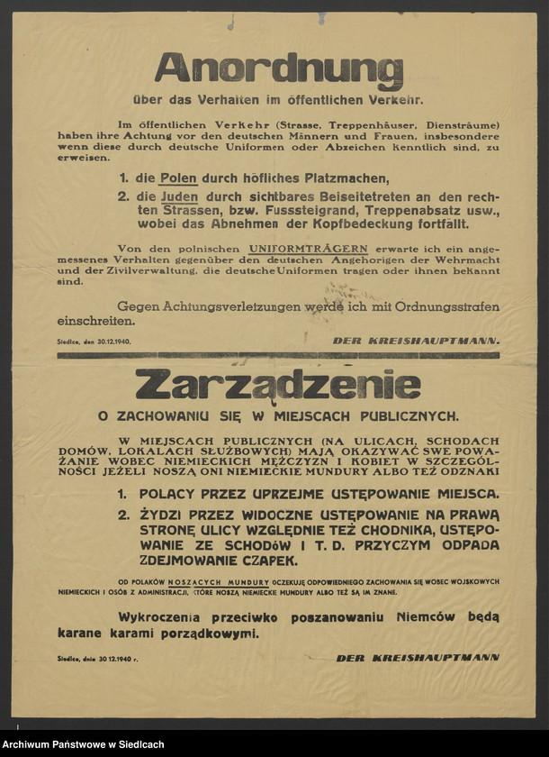 """Obraz 28 z kolekcji """"Afisze okupacyjne powiatu siedleckiego 1939-1944"""""""