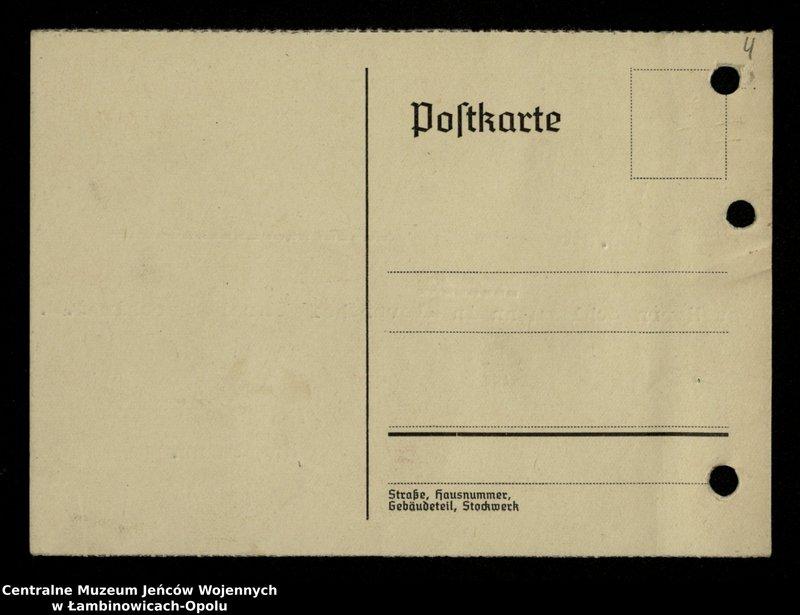 """Obraz 5 z jednostki """"Poszukiwania jeńców polskich zwolnionych z niewoli niemieckiej jako robotnicy cywilni, lit. Ada-Bod"""""""