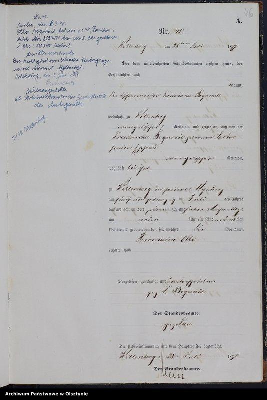 """image.from.team """"Urząd Stanu Cywilnego w Wielbarku (miasto) pow. szczycieński"""""""