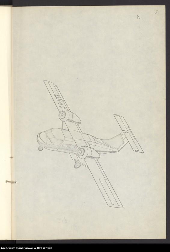 """Obraz 5 z jednostki """"Ogólny projekt ,wstępny """"JAMEL"""" - lekki samolot wielozadaniowy ."""""""