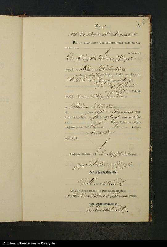"""Obraz z jednostki """"Geburts-Neben-Register Nr 1 - 36"""""""